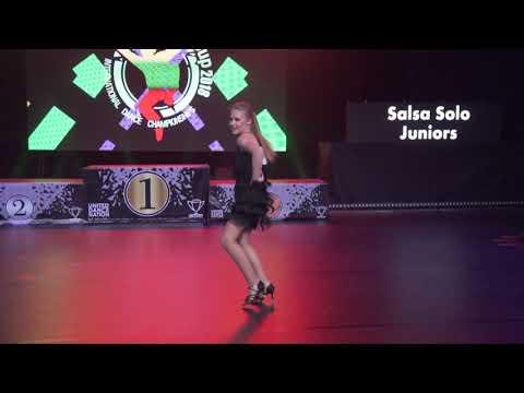 Guoda Stonkute   Salsa Solo Juniors   Lithuanian Cup 2018