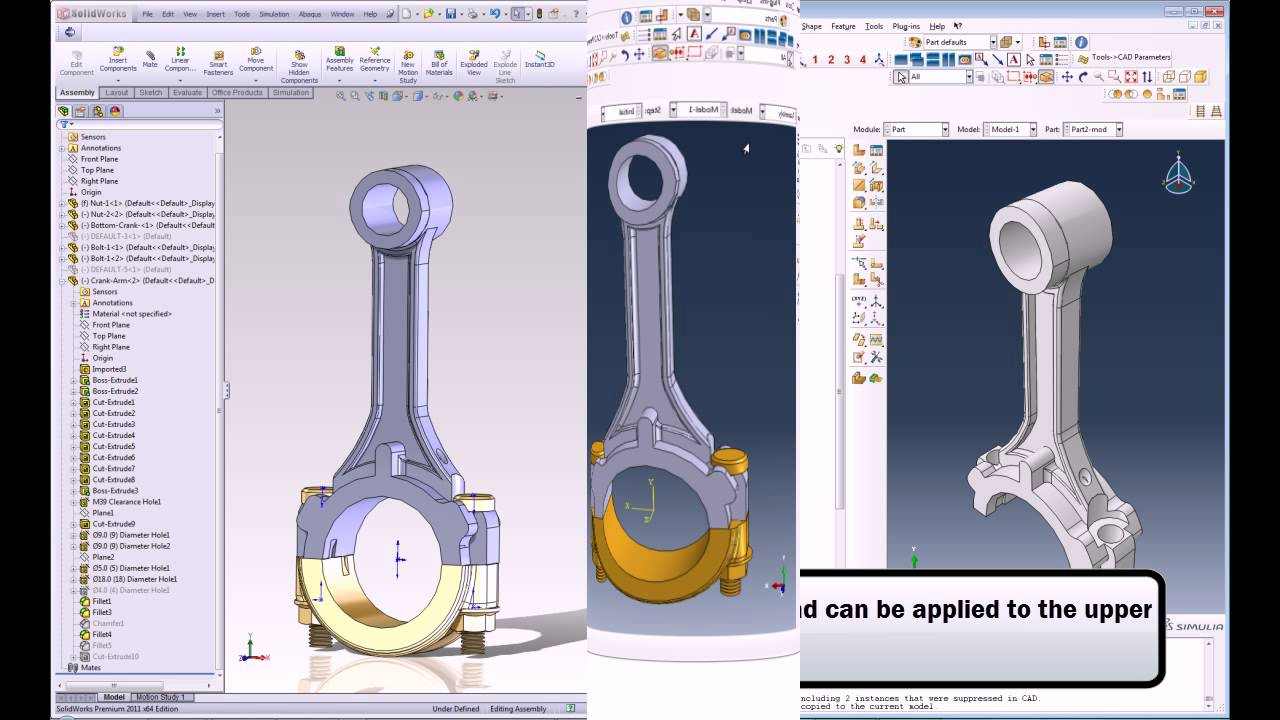 Abaqus Associative Interface for SOLIDWORKS