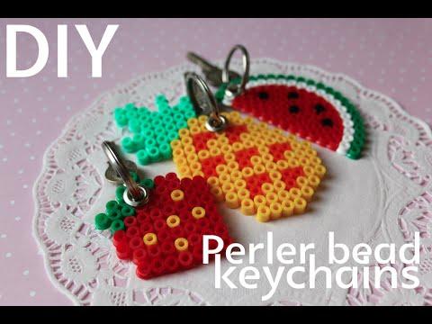 Diy Perler Bead Fruit Keychains