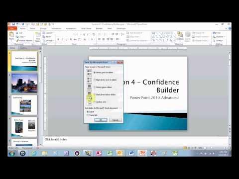 Create PowerPoint Handouts In Word
