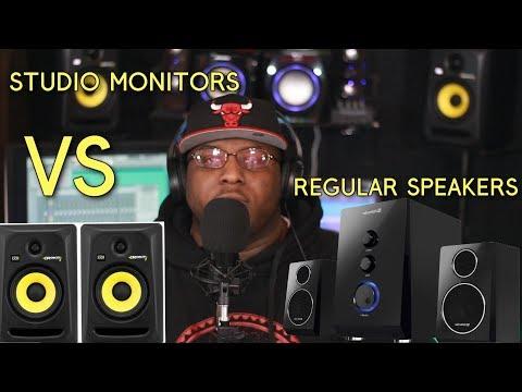 Studio monitors Vs Regular speakers