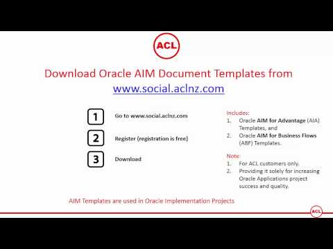 Download Oracle AIM Document Templates - Includes Both AIA And ABF Methodology Templates