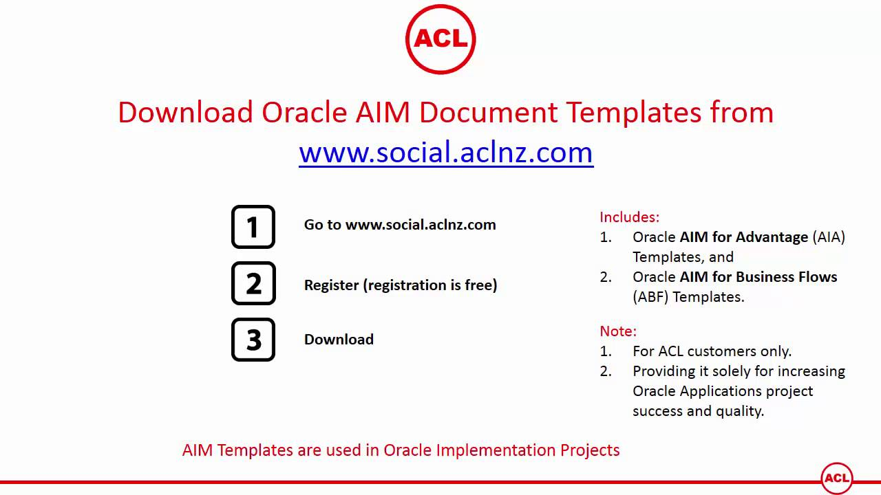 Download Oracle Aim Document Templates Includes Both Aia And Abf Methodology Templates Youtube