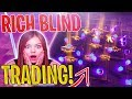 RICH BLIND TRADING With Fans For RARE Items! *MUST SEE* | Fortnite Save The World
