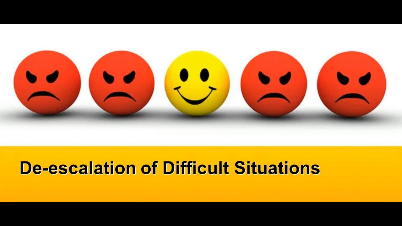 de escalation of difficult situations de escalation of difficult situations