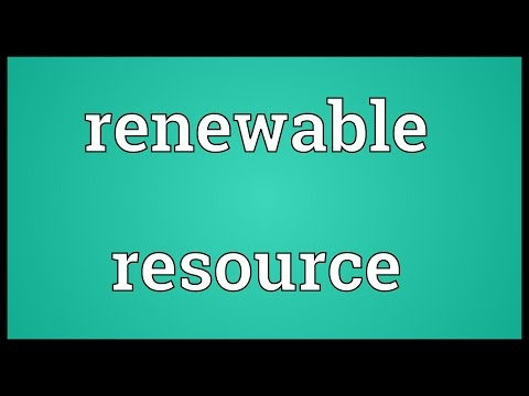 Renewable resource Meaning