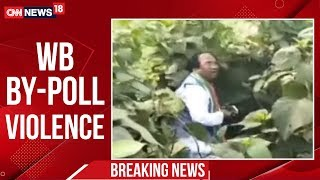west-bengal-by-poll-violence-bjp-candidate-beaten-up-cnn-news18
