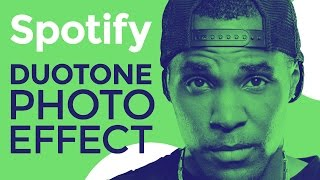 Spotify Duotone Photo Effect Photoshop Tutorial