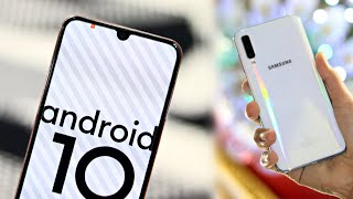 Samsung A50 certified with android 10 and one ui 2