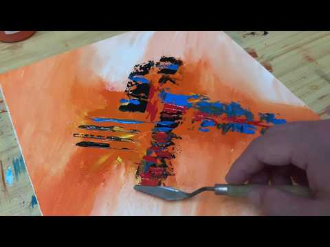 Abstract Painting Demo / Color Palette Only / Simple / Easy / Satisfied / Daily Art Time / Day #49