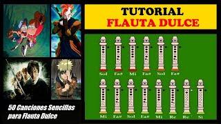 Cincuenta Canciones Fáciles para Flauta Dulce + Notas Explicadas