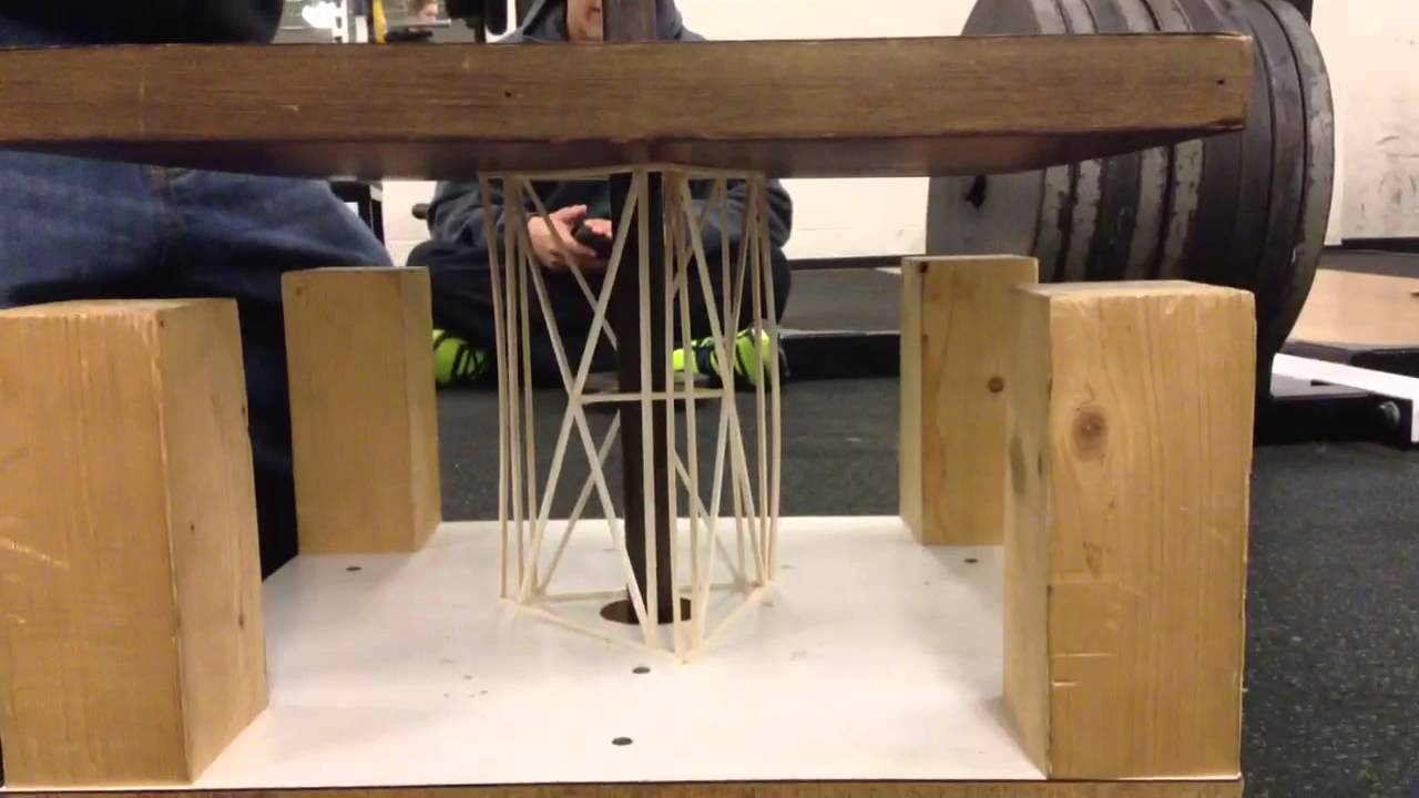 Balsa Wood Tower Test No 1 Youtube