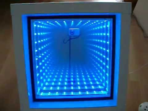 Infinity Mirror Amp Led 5050 Rgb For Ikea Kallax Cube Typ 01