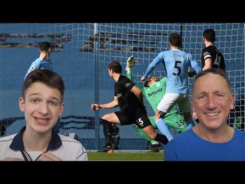 MAN CITY 2-1 WEST HAM HIGHLIGHTS REACTION - Premier League