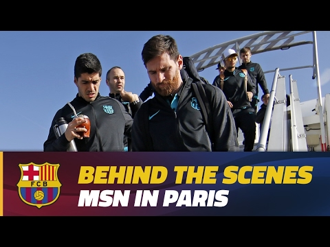 [BEHIND THE SCENES] Messi, Suárez & Neymar Jr. are back in Paris