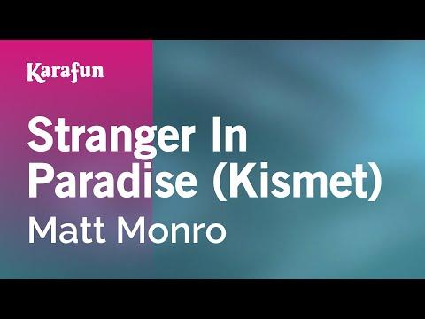 Karaoke Stranger In Paradise (Kismet) - Matt Monro *