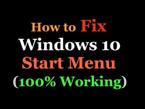 How to Fix Start Menu in Windows10