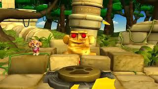 Paw Patrol играем с Трекером новый щенок игра Мультфильм на Русском Языке