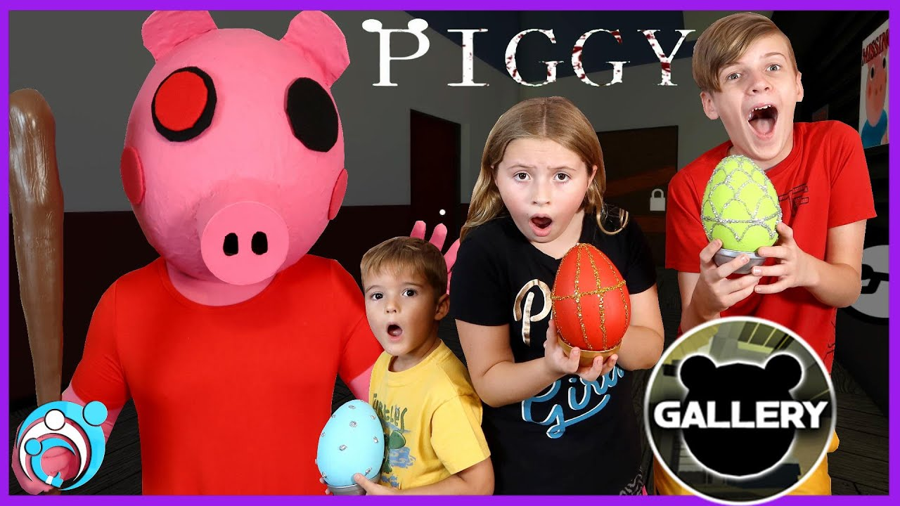 Roblox PIGGY In Real Life Chapter 3 The GALLERY (Thumbs Up Family)