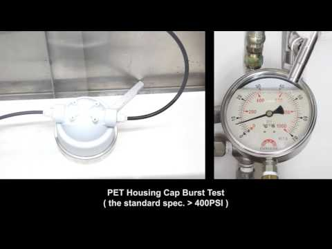 Puricom - PET Housing Cap Burst Test