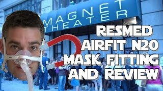 AirFit N20 ResMed CPAP Mask Fitting and Review.