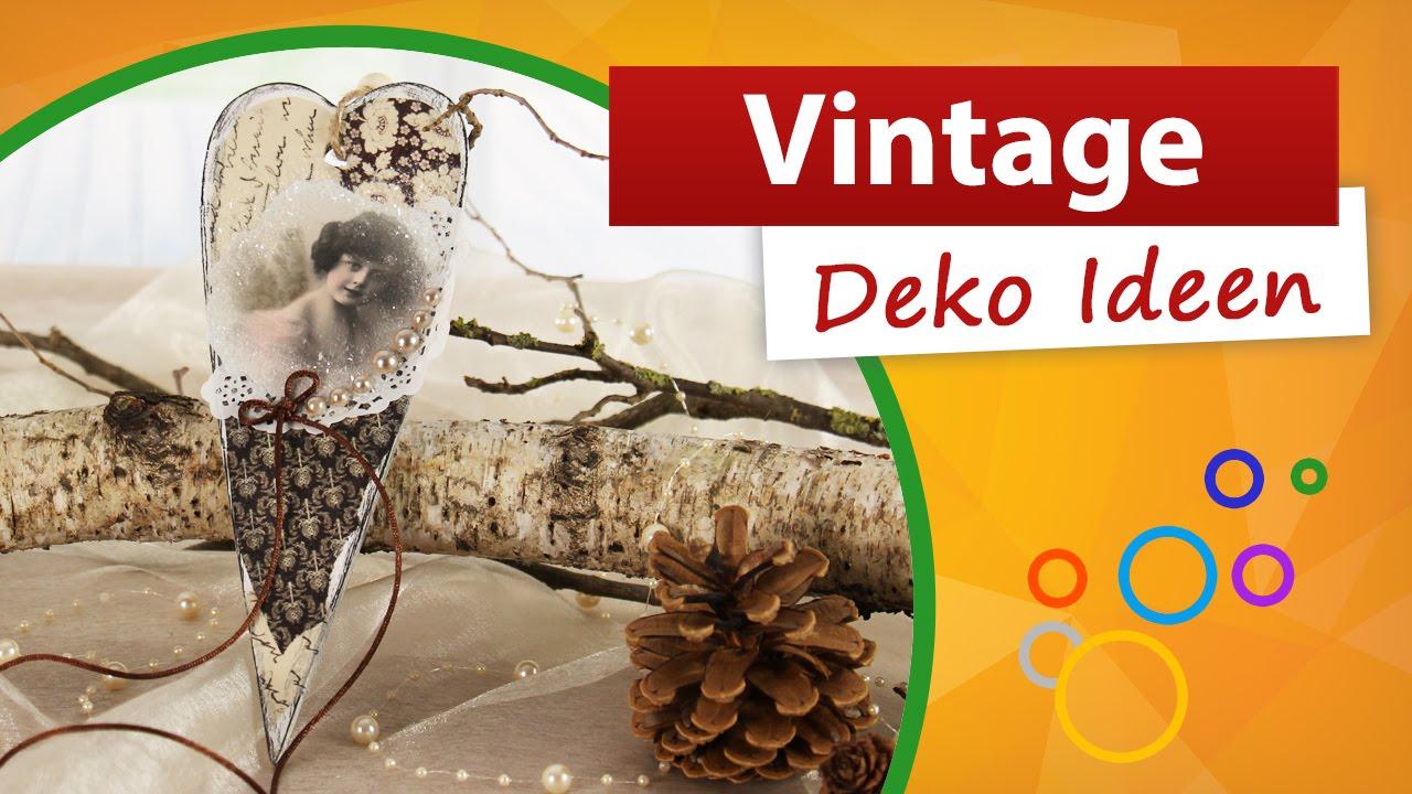 Vintage Deko Ideen ♥ Wir Basteln Eine Herz Dekoration