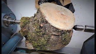 Woodturning - A Mossy Log