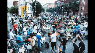 BIKELIFE SHUT DOWN PETERS STREET IN ATL / SIG POP  UP RECAP VIDEO