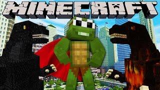 Minecraft City Destruction - GODZILLA ATTACKS THE CITY !