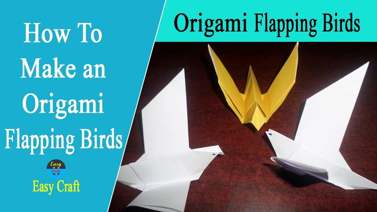 How to make origami flapping birds easy origami for How to make origami goose