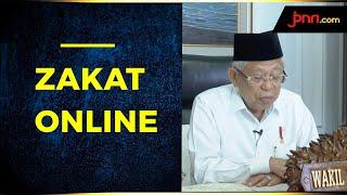 Wapres Ma'ruf Amin Serahkan Zakat Secara Online - JPNN.com