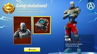 "NEW HUNTING PARTY ""A.I.M."" SKIN UNLOCKED! (Fortnite Battle Royale)"
