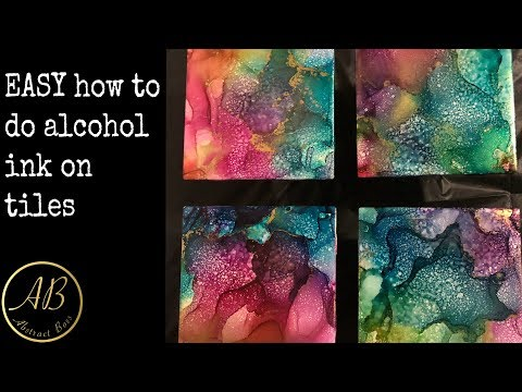 EASY alcohol ink tutorial! Amazing coasters