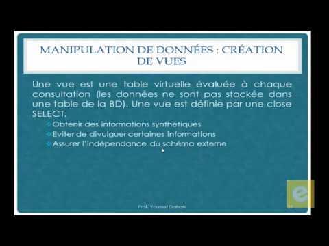 SQL 19: Manipulation de Données: Création de Vues