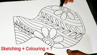 Easy Simple Flower Pot Drawing À¤« À¤²à¤¦ À¤£ À¤š À¤¤ À¤° Flower Vase Drawing Fuldani Drawing Youtube