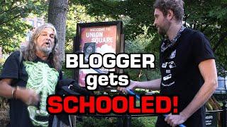 Blogger Get Schooled on Censorship, Gender & Masks.
