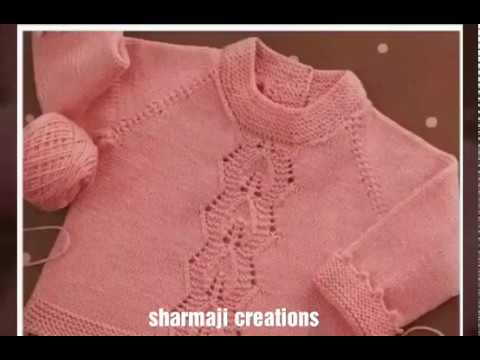 72a3e79290de One colour sweater design for kids or baby in hindi - woolen sweater designs