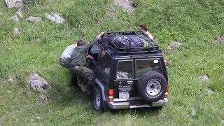 Toyota Land Cruiser Offroad Adventure In Kazakistan Mountains