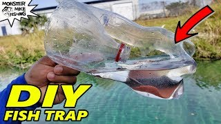 DIY SODA BOTTLE FISH TRAP with GoPro | Monster Mike Fishing