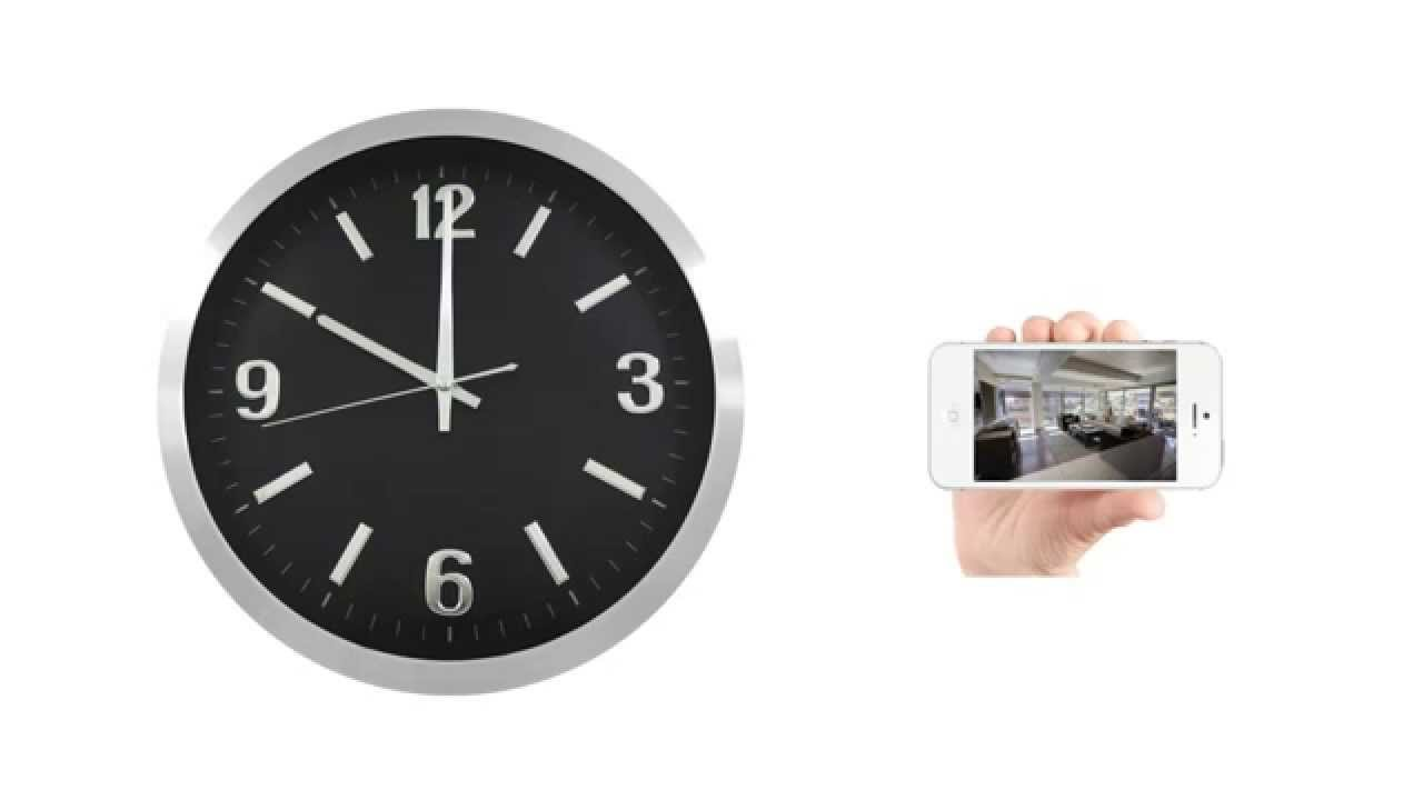 Introducing securityman clockcam wifi wall clock isecurity camera introducing securityman clockcam wifi wall clock isecurity camera with micro sd recorder amipublicfo Images