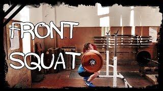 Приседания на груди ║  Front squat