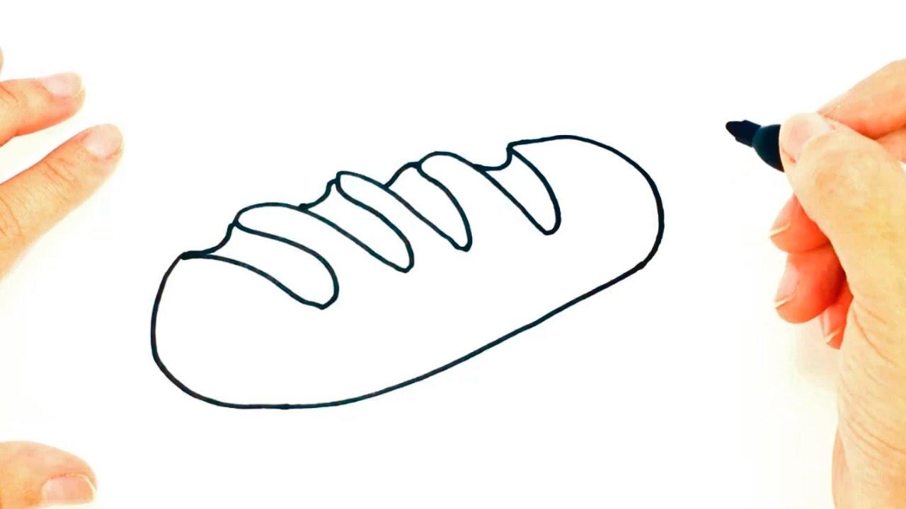 Cómo dibujar un Pan paso a paso | Dibujo fácil de Pan - YouTube