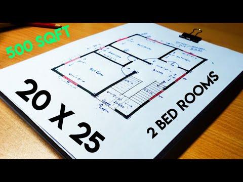 20 X 25 Small House Design Ii 20 X 25 Ghar Ka Naksha Ii 500 Sqft House Plan Youtube