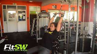 Cable Seated Lat Pushdown: Back, Lat Exercise Demo How-to