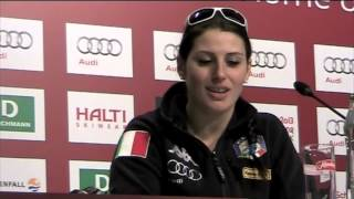NADIA FANCHINI A SCHLADIMING IN CONFERENZA STAMPA