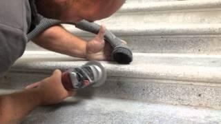 Broušení kamenných - žulových schodů