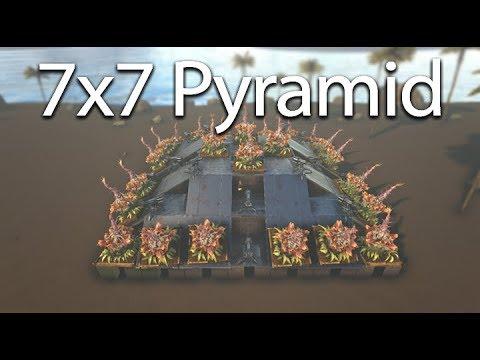 Ark   Unraidable 7x7 Pyramid Base Design [tutorial]