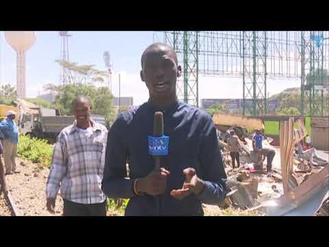 Demolitions at Prime Place Restaurant near Nyayo Stadium in Nairobi