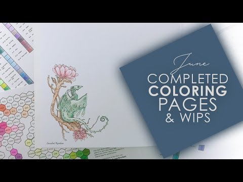 June Completed Coloring Pages & WIPS | 2018
