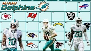 Miami Dolphins 2017 Schedule Breakdown